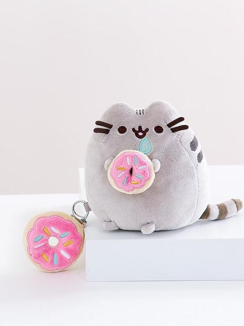 Pusheen with Donut Giftset - Plush & Keychain