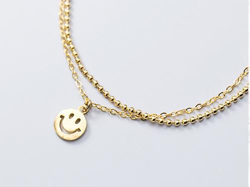 Smiley Face Sterling Silver Bracelet - MOOII