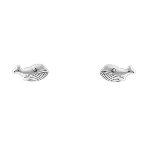 Blue Whale Sterling Silver Studs