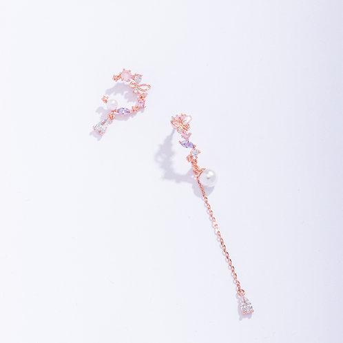 Summer Blossoming Asymmetric Earring