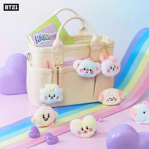 BT21 BABY Rainbow Flat Fur Bag Charm