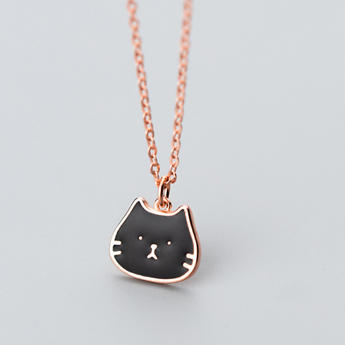 Cat Face Necklace - MOOII