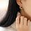 Thumbnail: Sparkling Crescent Moon Crystal Earrings - MOOII