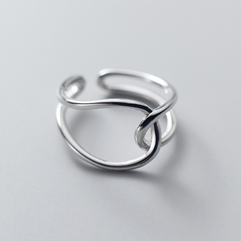 Waved Line Sterling Silver Ring - MOOII