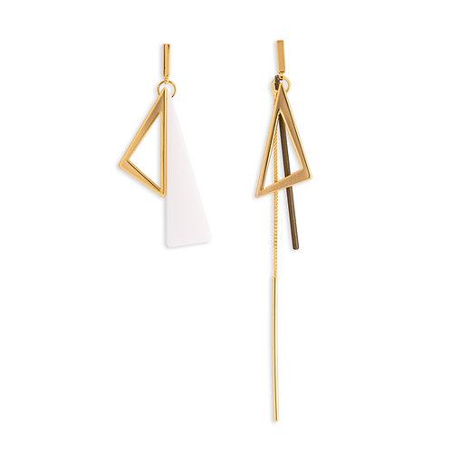 Triangle and Bar Dangle Earring - MOOII