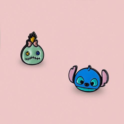 MOOII Disney Ear Studs Stitch and Scrump