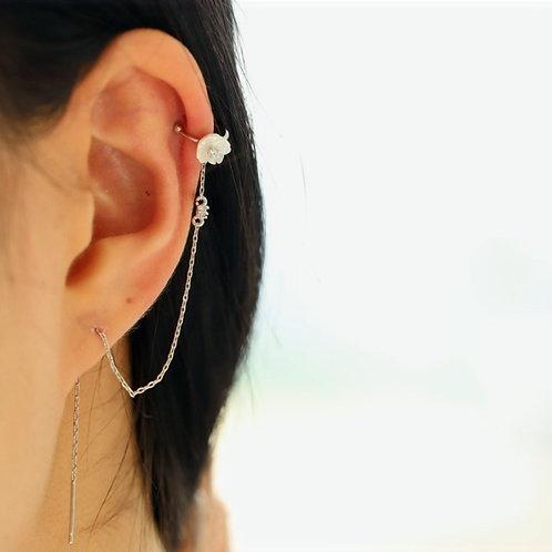 Flower Ear Cuff with Threader - MOOII