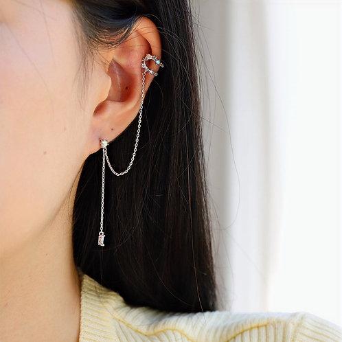 Mini Garland and Ear Cuff Drop Earring