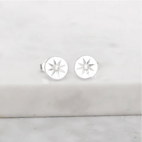 Enchanted Light Crystal Sterling Silver Studs