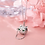 Thumbnail: Cat Wearing Glasses Necklace - MOOII