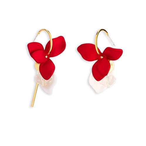 Red Lily Earrings - MOOII