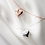 Thumbnail: Sterling Silver Mini Heart Necklace - MOOII