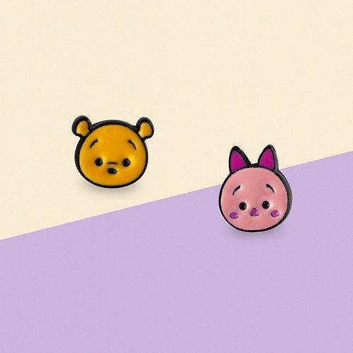 MOOII Disney Ear-Stud Winnie and Piglet