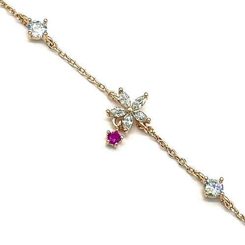 Teardrop Five-Petals Flower Bracelet - MOOII
