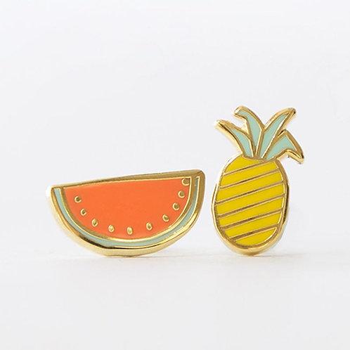 Yellow Owl Fruits Earrings