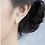 Thumbnail: All Silver Little Giraffe Ear Studs