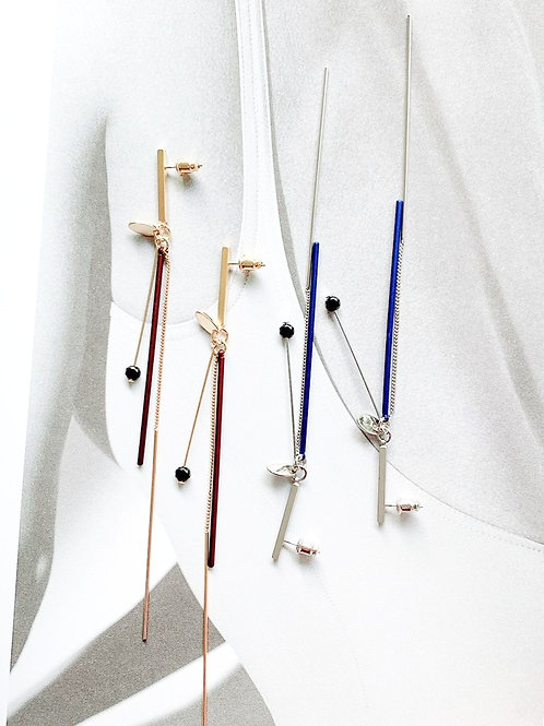 Drop Tassel and Bar Dangle Earring - MOOII