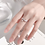 Thumbnail: CZ Flower and Butterfly 925 Silver Ring - MOOII