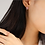 Thumbnail: Single Cubic Zirconia Flower Dangle and Cuff Earrings  Hook - MOOII