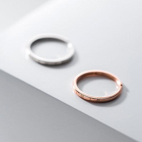 Petit Roman Numeral Ring