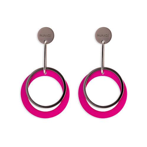 Pink Double hoops Earrings - MOOII