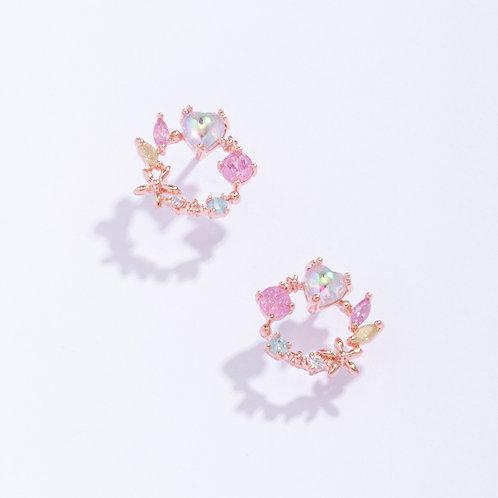 Heart on a Wreath Stud Earring - MOOII