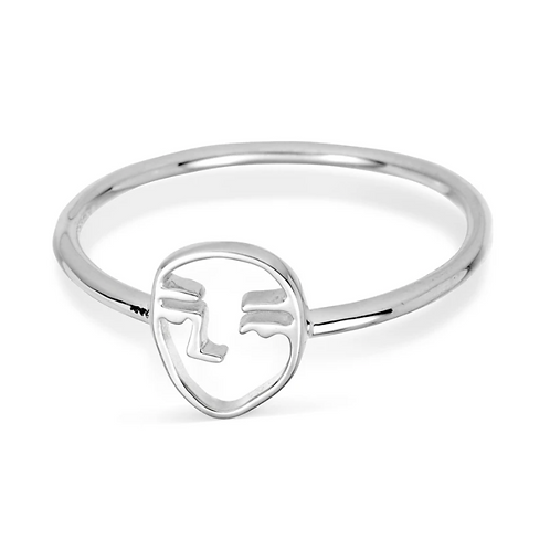 Dainty Picasso Sterling Silver Ring