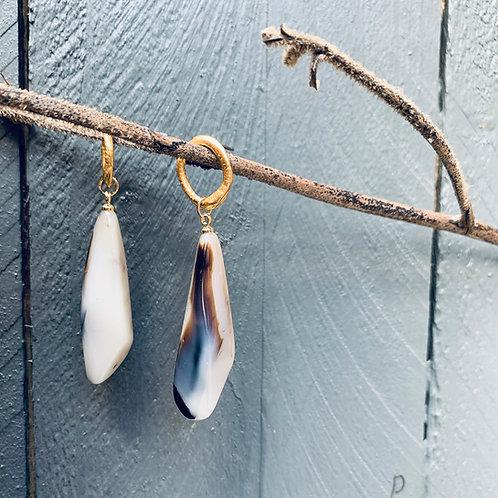 Truffle Resin Dangle Earrings