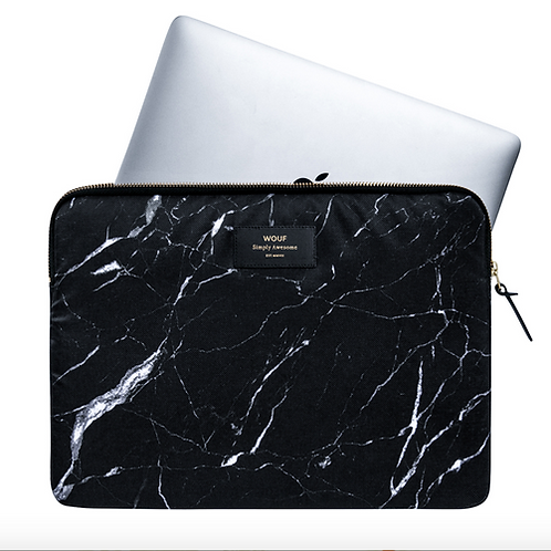 WOUF Laptop Sleeve Black Marble 13""