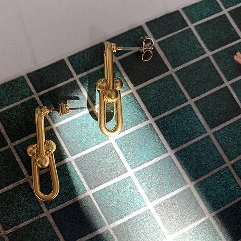 Golden Chain Earrings