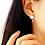 Thumbnail: Sakura Earring with Asymmetric Crystal Drop - MOOII