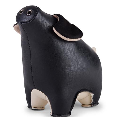 Zuny Paperweight Pig Black