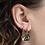 Thumbnail: Yellow owl Mystic Spell hoop earrings