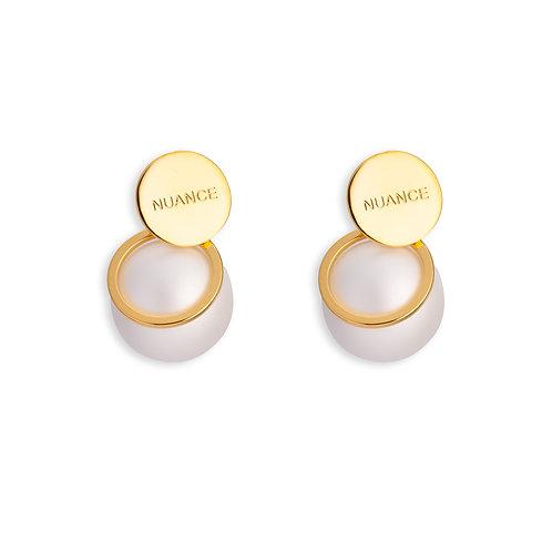 White Pearls Earrings - MOOII