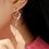 Thumbnail: MOOII Silver Heart Shape Asymmetric Dangle Earring