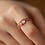 Thumbnail: MOOII Micro Round Crystal Double Layer Rings