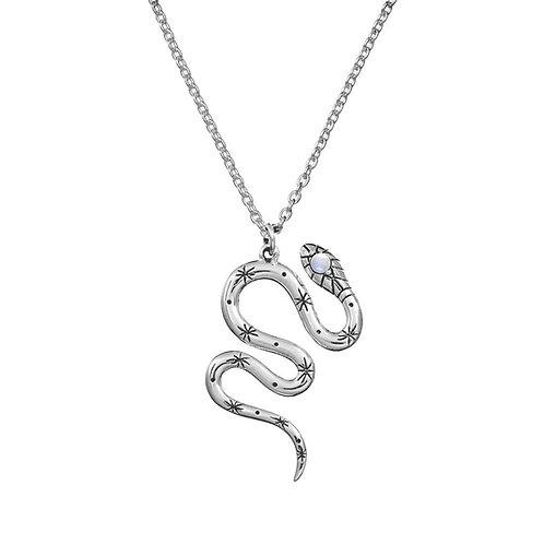 Mystic Serpent Moonstone Necklace