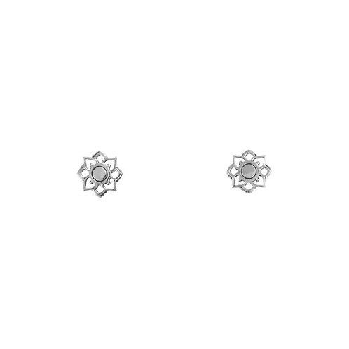 Mandala Flower Sterling Silver Stud