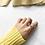Thumbnail: MOOII Tear Drop Crystal and Wreath Crown Ring