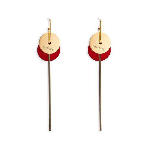 Double Hoops Drop Tassel Earrings - MOOII