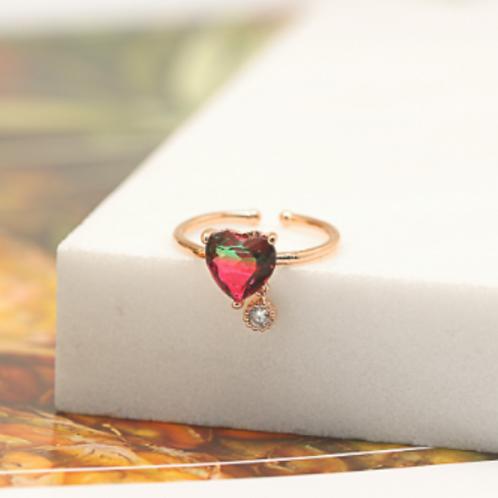 Big Warm Heart Crystal Ring - MOOII