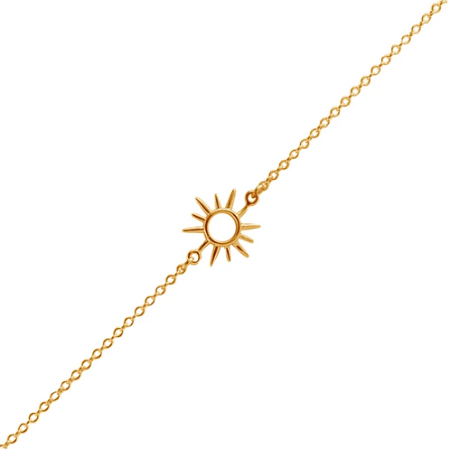 Gold Open Sunshine Sterling Silver Bracelet