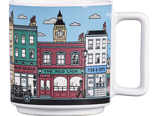 Heat Changing London City Ceramic Novelty Mug