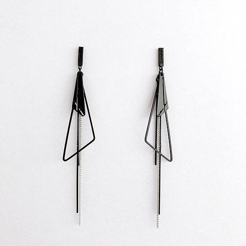 MOOII Triangle and Tassel Earring