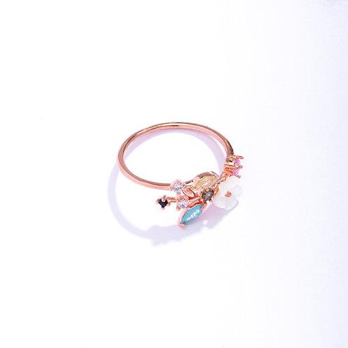 White Cherry Blossom Branch Ring - MOOII