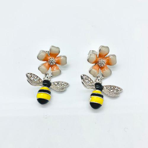 Fl Honey Bee Earrings
