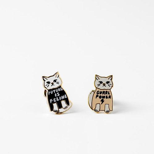 Yellow Owl Gurrrl Power Earrings