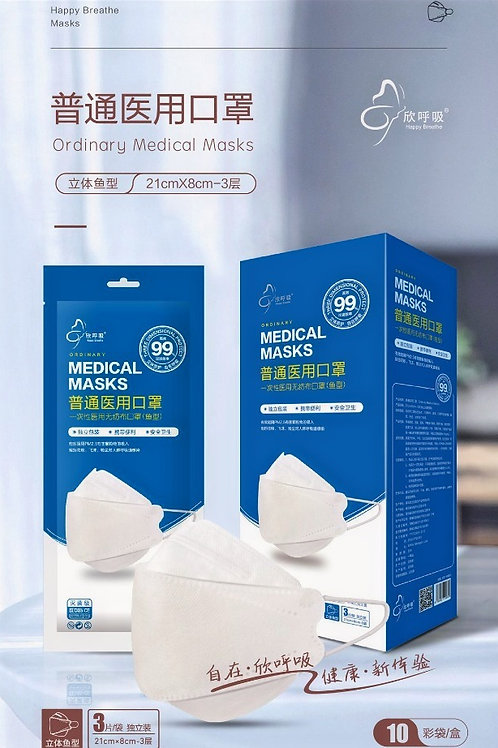 Face Shaped Non-Woven Filter Mask