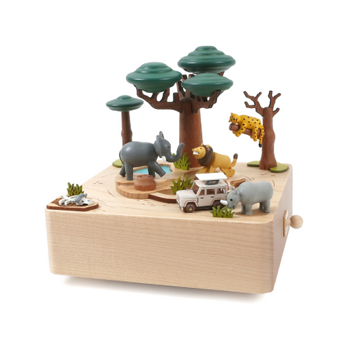 Wooderful Life Round & Round Music Box - African Safari