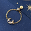 Thumbnail: CZ Crescent Moon Adjustable Ring - MOOII